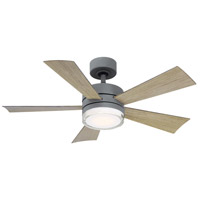 Modern Forms FR-W1801-42L-GH/WG Wynd 42 inch Graphite Indoor Outdoor Smart Ceiling Fan
