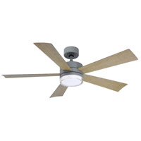 Modern Forms FR-W1801-52L-GH/WG Wynd 52 inch Graphite Indoor Outdoor Smart Ceiling Fan