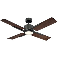 Cervantes 56 inch Oil Rubbed Bronze Indoor Outdoor Smart Ceiling Fan