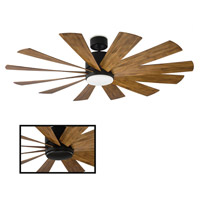 Modern Forms FR-W1815-60L-MB/DK Windflower 60 inch Matte Black Ceiling Fan