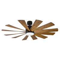 Modern Forms FR-W1815-60L27MBDK Windflower 60 inch Matte Black Indoor Outdoor Smart Ceiling Fan