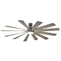 Modern Forms FR-W1815-80L-GH/WG Windflower 80 inch Graphite Ceiling Fan