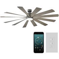 Modern Forms FR-W1815-80L35GHWG Windflower 80 inch Graphite Weathered Gray Ceiling Fan in 3500K