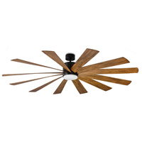 Modern Forms FR-W1815-80L27MBDK Windflower 80 inch Matte Black Indoor Outdoor Smart Ceiling Fan