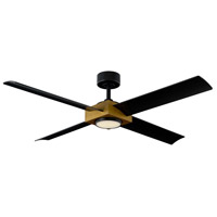 Modern Forms FR-W1922-56L-AB/MB Paradox 56 inch Aged Brass Indoor Outdoor Smart Ceiling Fan