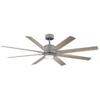 Modern Forms FR-W2001-66L-GH/WW Renegade 66 inch Graphited Weathered Wood Downrod Ceiling Fans in 3000K Graphite Weathered Wood 66in. Smart Ceiling