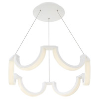 Marin LED 29 inch White Chandelier Ceiling Light