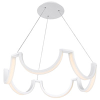 Modern Forms PD-20837-WT Marin LED 37 inch White Chandelier Ceiling Light