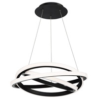 Veloce LED 26 inch Black Chandelier Ceiling Light
