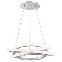 Veloce LED 26 inch Titanium Chandelier Ceiling Light