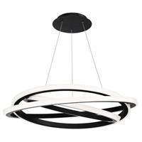 Veloce LED 38 inch Black Chandelier Ceiling Light