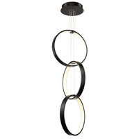 Modern Forms PD-26803-BK Rings LED 19 inch Black Pendant Ceiling Light in 3