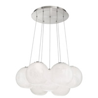 Cosmic LED 27 inch Brushed Nickel Multi-Light Pendant Ceiling Light