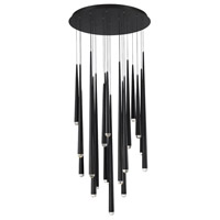 Cascade LED 26 inch Black Chandelier Ceiling Light