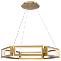 Mies LED 35 inch Aged Brass Chandelier Ceiling Light