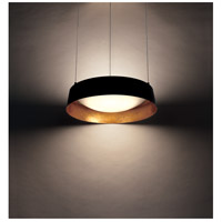 Modern Forms Pd 51318 Gl Gilt Led 18 Inch Gold Leaf Chandelier Ceiling Light
