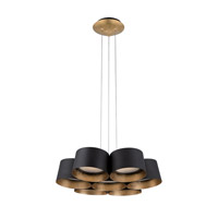 Modern Forms PD-52718-GL Marimba LED 18 inch Gold Leaf Chandelier Ceiling Light