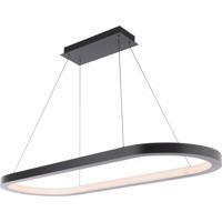 Modern Forms PD-53046-35-BK Racetrack LED 17 inch Black Chandelier Ceiling Light
