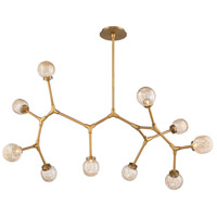 Modern Forms PD-53751-AB Catalyst 10 Light 51 inch Aged Brass Chandelier Ceiling Light