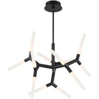 Modern Forms PD-54732-BK Kryptonite LED 32 inch Black Chandelier Ceiling Light