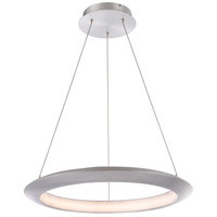 Modern Forms PD-55024-35-AL The Ring LED 24 inch Brushed Aluminum Chandelier Ceiling Light