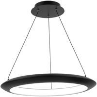 Modern Forms PD-55024-30-BK The Ring LED 24 inch Black Chandelier Ceiling Light