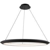 Modern Forms PD-55036-35-BK The Ring LED 36 inch Black Chandelier Ceiling Light