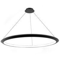 Modern Forms PD-55048-35-BK The Ring LED 48 inch Black Chandelier Ceiling Light