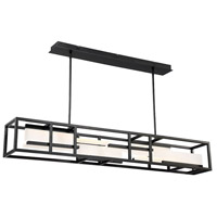 Memory LED 56 inch Black Linear Pendant Ceiling Light