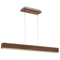 Drift LED 3 inch Dark Walnut Linear Pendant Ceiling Light