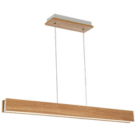 Drift LED 3 inch Walnut Linear Pendant Ceiling Light