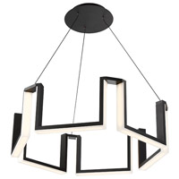 Gotham LED 28 inch Black Chandelier Ceiling Light