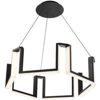 Modern Forms PD-60828-BK Gotham LED 28 inch Black Chandelier Ceiling Light