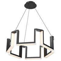 Gotham LED 34 inch Black Chandelier Ceiling Light