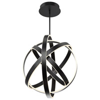 Modern Forms PD-61728-BK Kinetic LED 28 inch Black Pendant Ceiling Light
