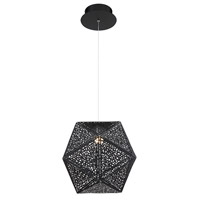 Modern Forms PD-62812-BK Riddle LED 12 inch Black Pendant Ceiling Light