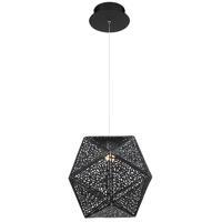 Modern Forms PD-62812-BK Riddle LED 12 inch Black Pendant Ceiling Light