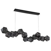 Modern Forms PD-62864-BK Riddle LED 64 inch Black Linear Pendant Ceiling Light