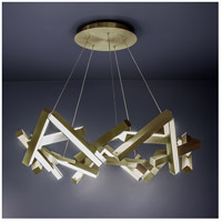 Chaos LED 34 inch Aged Brass Chandelier Ceiling Light