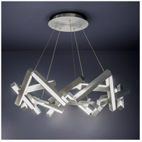 Chaos LED 34 inch Brushed Aluminum Chandelier Ceiling Light