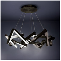Chaos LED 34 inch Black Chandelier Ceiling Light