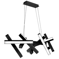 Modern Forms PD-64848-BK Chaos LED 21 inch Black Chandelier Ceiling Light
