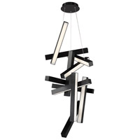 Chaos LED 25 inch Black Chandelier Ceiling Light