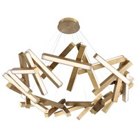 Chaos LED 61 inch Aged Brass Chandelier Ceiling Light