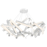 Chaos LED 61 inch Brushed Aluminum Chandelier Ceiling Light