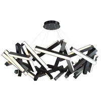 Chaos LED 61 inch Black Chandelier Ceiling Light