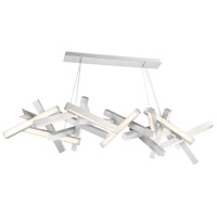 Chaos LED 72 inch Brushed Aluminum Chandelier Ceiling Light