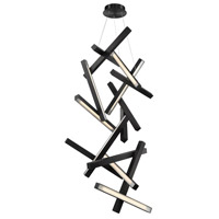 Modern Forms PD-64875-BK Chaos LED 31 inch Black Chandelier Ceiling Light