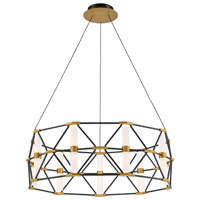 Modern Forms PD-73932-BK/AB Labyrinth 9 Light 31 inch Black Aged Brass Pendant Ceiling Light