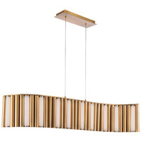 Modern Forms PD-74045-AB Aretha LED 17 inch Aged Brass Chandelier Ceiling Light